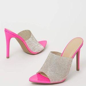 NEW🔥 Slip-on Rhinestone Embellished Mules Sandals